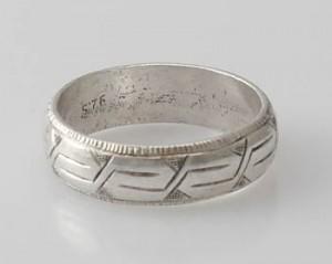 Ring Sterlingsilber (925) aus Nepal, Innendurchmesser 18 mm.