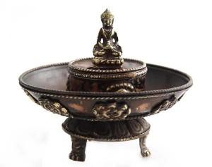 Räucherstäbchenhalter, Glückssymbole 01, Buddha, Nepal