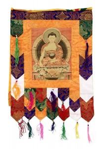 Stoff-Thangka, Sakyamuni Buddha, aufwendig