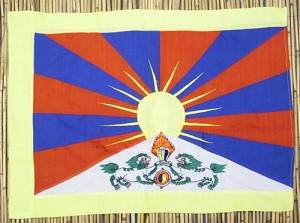Tibet-Flagge, Baumwollen, stickerei, 68 cm X 49,5 cm