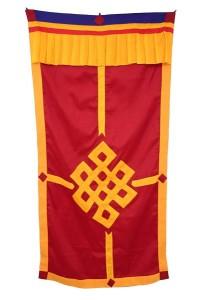 Tibetischer Türbehang, Endloser Knoten, rot