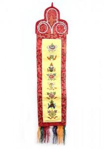 Eight Lucky Symbols Wandbehang, mittel, längs, gelb 02