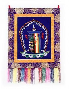 Kalachakra Wandbehang, blau