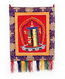 Kalachakra Wandbehang, rot