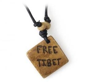 Yak Horn Anhänger, Free Tibet
