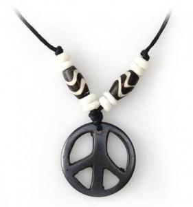 Yak Horn Anhänger - Tibet-Style, Peace 3