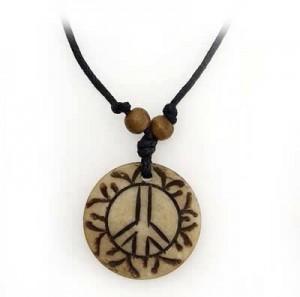Yak Horn Anhänger, Peace 1