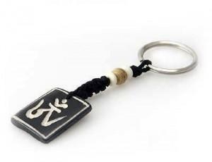 Schlüsselanhänger, Yak-Horn, Om Zeichen 10