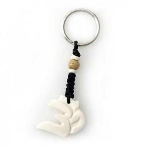 Schlüsselanhänger, Yak-Horn, Om Zeichen 7