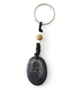Schlüsselanhänger, Yak-Horn, Vishvavajra Zeichen