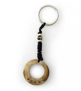 Schlüsselanhänger, Yak-Horn, Nepal-Design 8