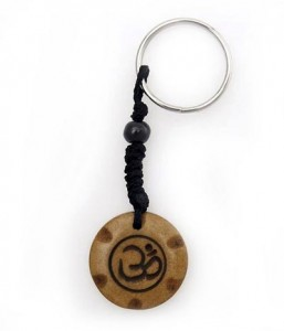 Schlüsselanhänger, Yak-Horn, Om Zeichen 4