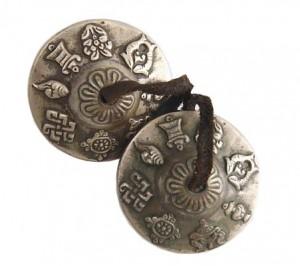 Zimbeln, Glückssymbole, Nepal, ca. 195 g.