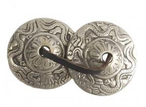 Zimbeln mit Drache aus Nepal, ca. 65 g.