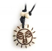Yak Horn Anhänger - Sonne 5