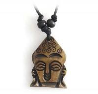Yak Horn Anhänger - Buddha Kopf 3