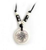 Yak Horn Anhänger - Tibet-Style, Endloser Knoten 6