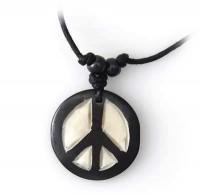 Yak Horn Anhänger - Peace 4
