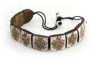 """Yak Horn Armband """"Endloser Knoten"""" aus Nepal"""