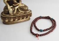 Holz-Gebetskette 8 mm, rotbraun, Nepal