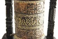"Wandgebetsmühle ""Eight Lucky Symbols"" aus Nepal"