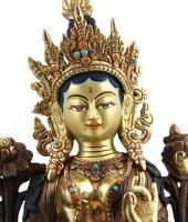 "Vergoldete ""Grüne Tara"" Statue, 22 cm"