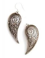 Filigrane Ohrringe aus Nepal, Sterlingsilber (925)