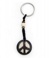 Schlüsselanhänger, Yak-Horn, Peace Zeichen