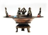 Runder Räucherstäbchenhalter, Buddhas, Glückssymbole 02, Nepal
