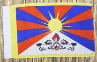 Tibet-Flagge, Polyester, 69 cm X 41 cm