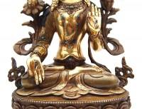"""Vergoldete """"Weiße Tara"""" Statue, 22 cm"""