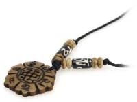 Yak Horn Anhänger - Tibet-Style, Endloser Knoten, Om Mani Padme Hum 2