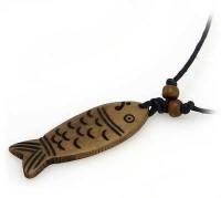 Yak Horn Anhänger, Fisch 3