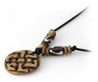 Yak Horn Anhänger - Tibet-Style, Endloser Knoten 4