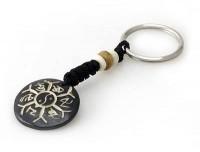 Schlüsselanhänger, Yak-Horn, Om Mani Padme Hum, Ying/Yang 2