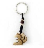 Schlüsselanhänger, Yak-Horn, Om Zeichen 01