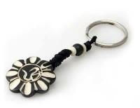 Schlüsselanhänger, Yak-Horn, Om Zeichen 8