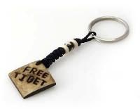 Schlüsselanhänger, Yak-Horn, Free Tibet