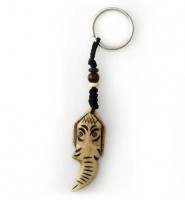 Schlüsselanhänger, Yak-Horn, Ganesh