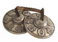 Zimbeln, Glückssymbole, Nepal, ca. 255 g.